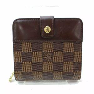 Louis Vuitton Wallet Compact Zip Browns Damier